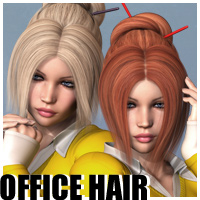Office Hair 3D Figure Assets outoftouch