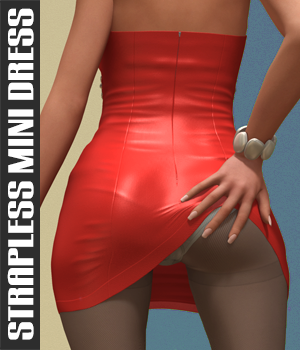Strapless Mini Dress Clothing Software Themed hameleon