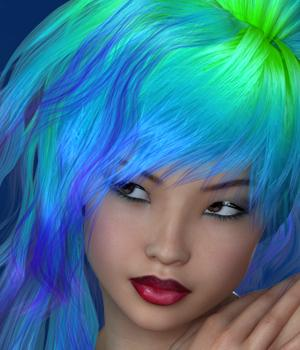 Lumen Hair for V4 3D Figure Assets SWAM