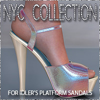 NYC Platform Sandals 3D Figure Essentials 3DSublimeProductions