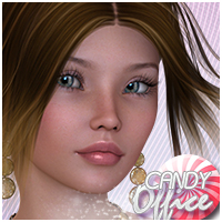 Candy Office Hair 3D Figure Assets Sveva