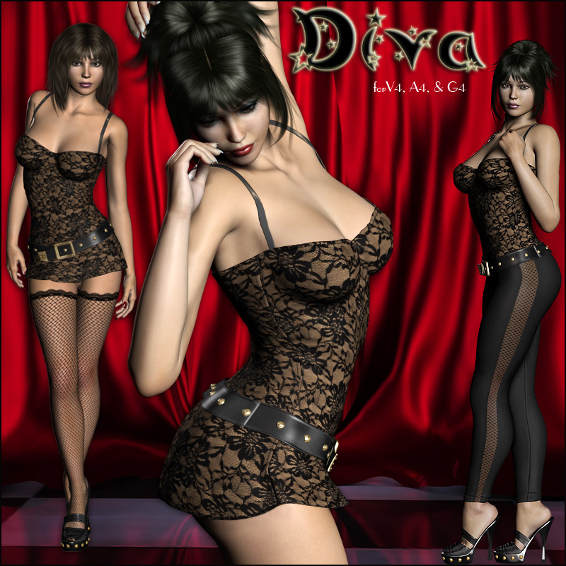Diva Rock Star Clothing for V4