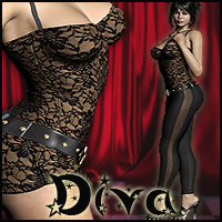 Diva Clothing or Lingerie Clothing Software Themed RPublishing