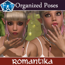 Romantika Organized Poses For V4 3D Figure Assets EmmaAndJordi