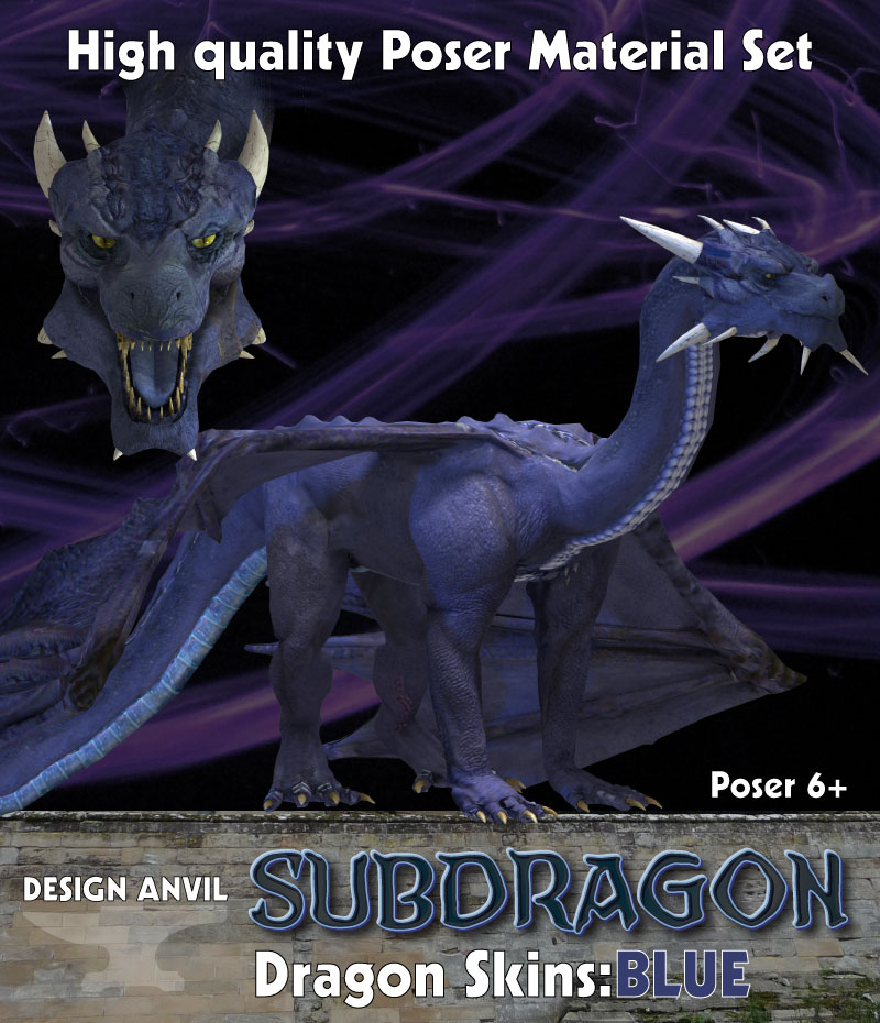 DA Dragon Skins Blue - Poser