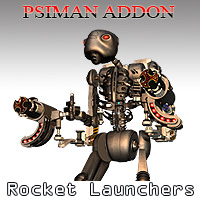 PsiMan Rocket Launchers Stand Alone Figures Props/Scenes/Architecture Themed Simon-3D