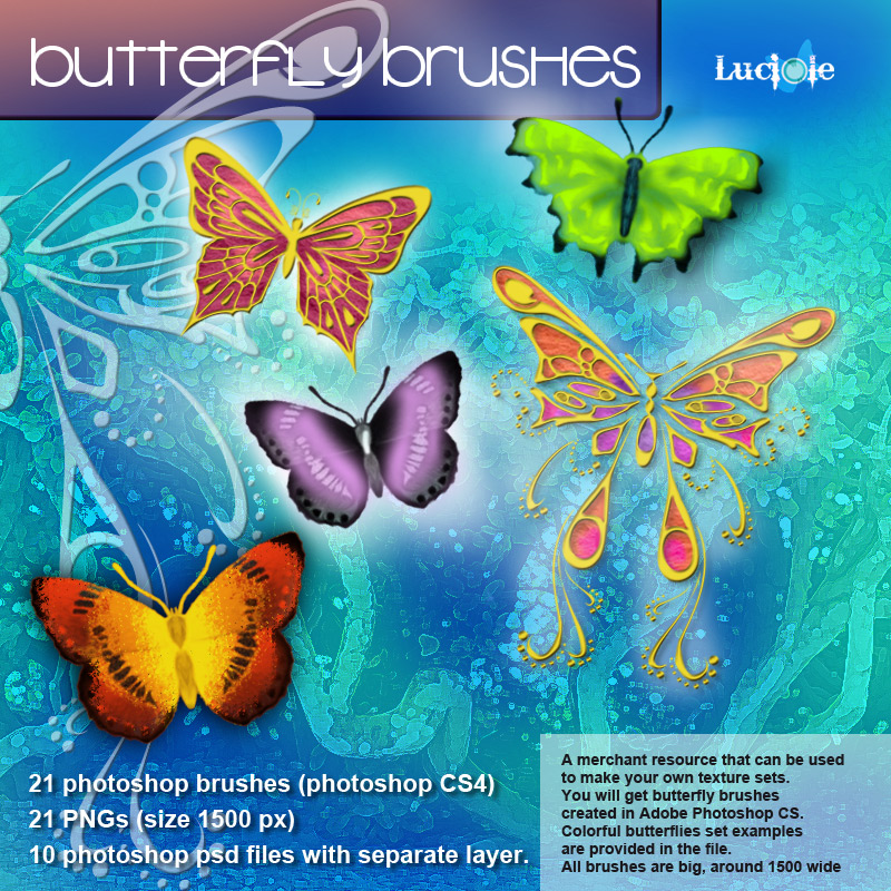 Luciole Butterfly brushes