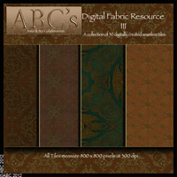 ABC's Digital Fabric Resource III 2D And/Or Merchant Resources antje