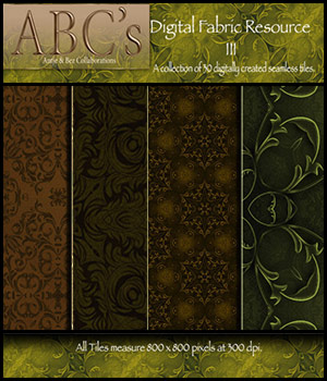 ABC's Digital Fabric Resource III 2D Graphics antje