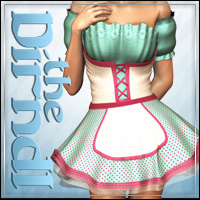 THE DIRNDL 2012 for V4 A4 G4 3D Models 3D Figure Assets outoftouch