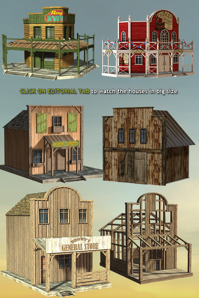 Wild West Town 3d Models Powerage