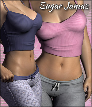 Sugar Jamaz PJs for V4 3D Figure Assets RPublishing