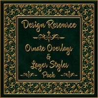 Design Resource: Ornamental Overlays & Styles Pack 2D Graphics fractalartist01