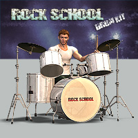 Rock School Drum Kit Props/Scenes/Architecture Themed Simon-3D