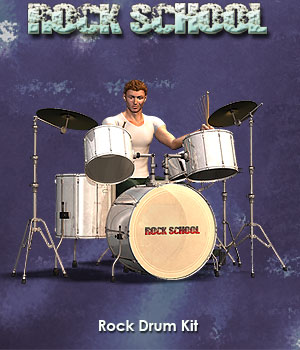 Rock School Drum Kit 3D Models Simon-3D