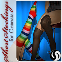 Short Stockings for Genesis 3D Figure Essentials CJ-studio