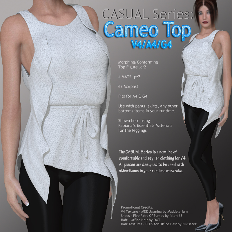 CASUAL Series: Cameo Top V4-A4-G4