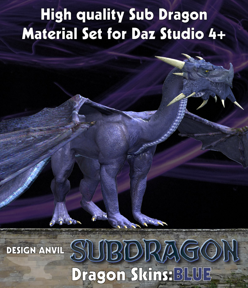 DA Dragon Skins Blue - Daz Studio