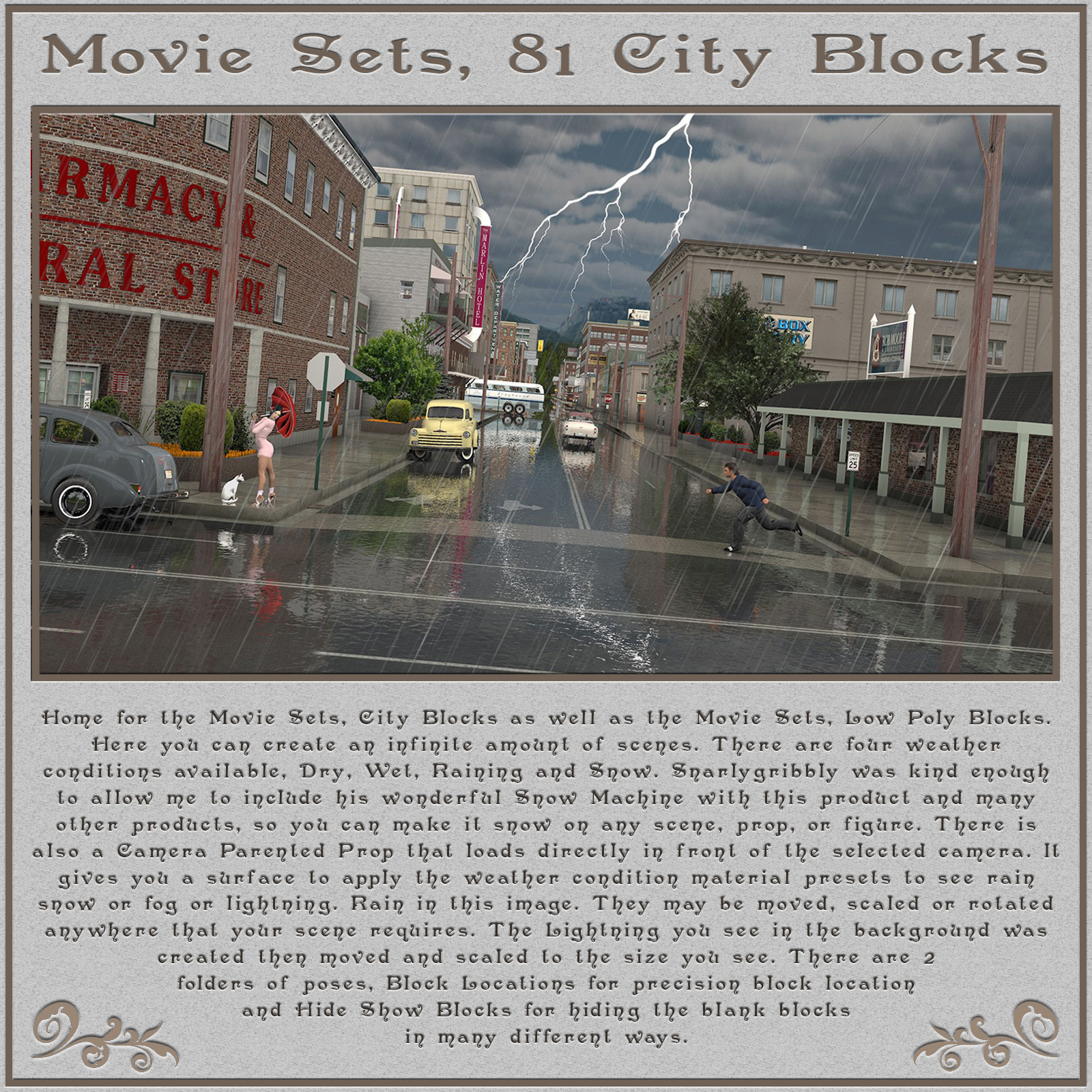 Movie Sets, 81 City Blocks