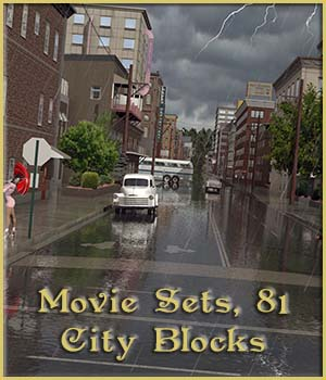 Movie Sets, 81 City Blocks 3D Models DreamlandModels