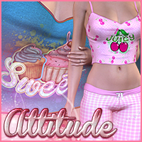 Attitude for Sugar Jamaz 3D Figure Assets Sveva