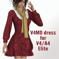 V4MD dress for V4A4 3D Figure Assets kobamax