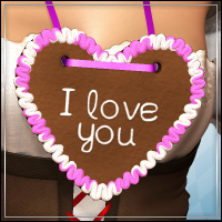 I LOVE YOU Gingerbread for V4/A4/G4 3D Figure Essentials 3D Models outoftouch