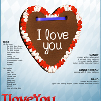 I LOVE YOU Gingerbread for V4/A4/G4 image 3