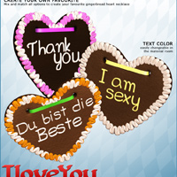 I LOVE YOU Gingerbread for V4/A4/G4 image 4