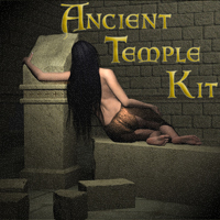 Ancient Temple Kit 3D Models nun2brite