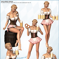 Beer Girl Playset - Poses & Props image 3