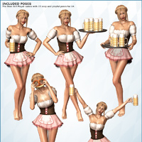 Beer Girl Playset - Poses & Props image 4