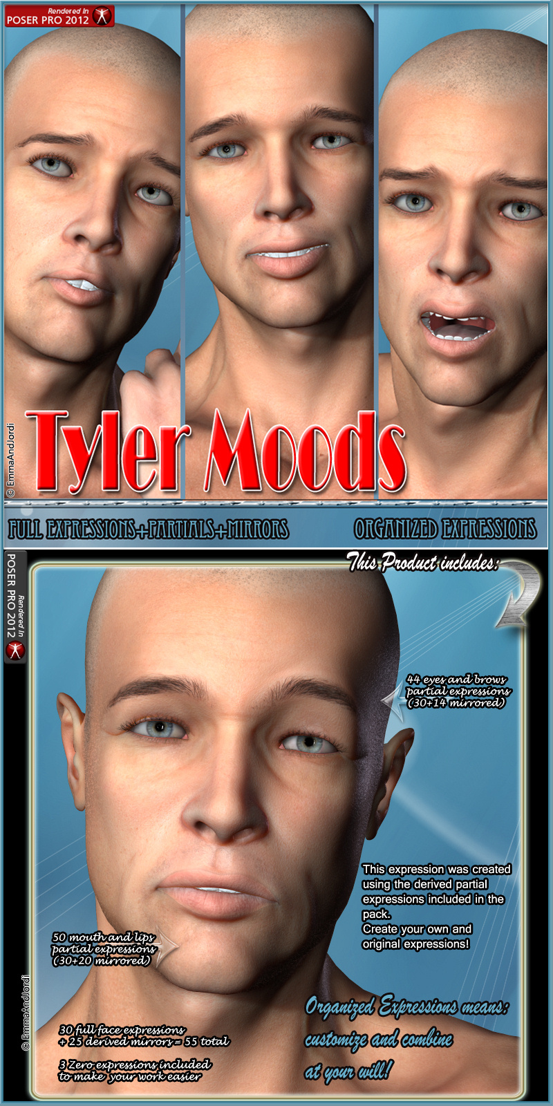 Tyler Moods Organized Expressions