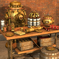 Steampunk Explosives 3D Models Nightshift3D