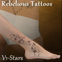 Rebelious Tattoos-Stars 2D Graphics rebelmommy