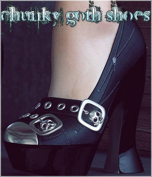 Chunky Goth Shoes 3D Figure Assets Legacy Discounted Content lilflame