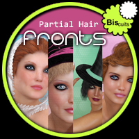 Biscuits Partial Hair Fronts 3D Figure Assets 3D Models Biscuits