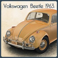 Volkswagen Beetle 1963 Props/Scenes/Architecture Transportation Stand Alone Figures Toffanello