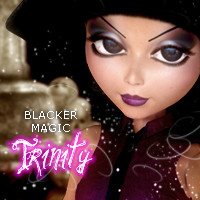 Blacker Magic! Trinity Characters Themed 2D And/Or Merchant Resources Stand Alone Figures 3DSublimeProductions