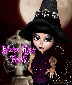 Blacker Magic! Trinity 3D Figure Essentials 2D 3DSublimeProductions