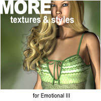 MORE Textures & Styles for Emotional III Clothing Themed Software motif