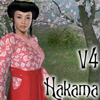 V4 Hakama 3D Models 3D Figure Essentials Lyrra