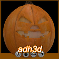 adPumpkin Themed Stand Alone Figures adh3d