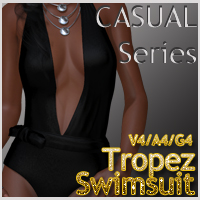 CASUAL Series: Tropez Swimsuit V4-A4-G4 3D Figure Essentials nikisatez