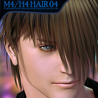 M4/H4 Hair 04 3D Figure Essentials Yanelis3D