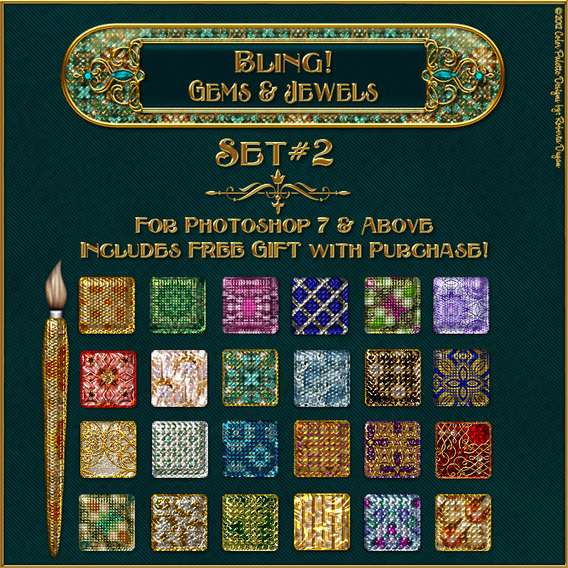 Bling! Gems & Jewels-Set 2 w/Free Gift