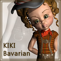Kiki Bavarian Clothing Software Themed Stand Alone Figures Karth