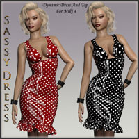 HOT Miki 4 Dynamic Sassy Dress 3D Figure Essentials lululee