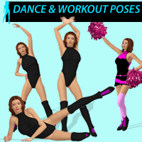 Dance & Workout Poses 3D Figure Assets apcgraficos