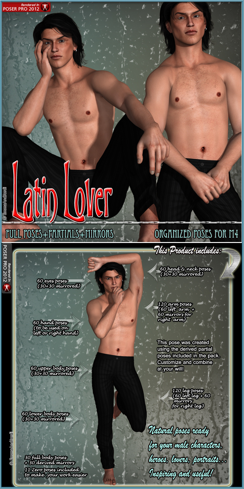 Latin Lover Organized Poses For M4